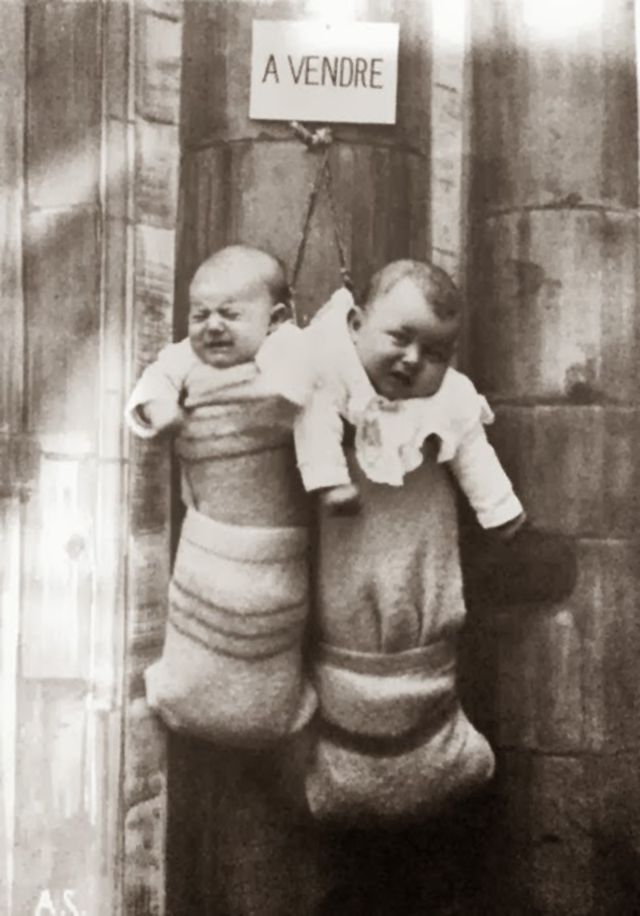 Image about Unwanted Babies For Sale in France During WW II