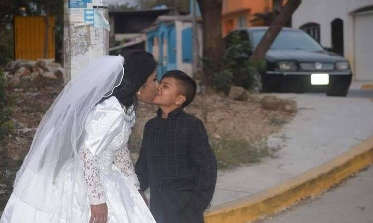 Viral Photos of Young Boy Marrying Adult Woman: Fact Check
