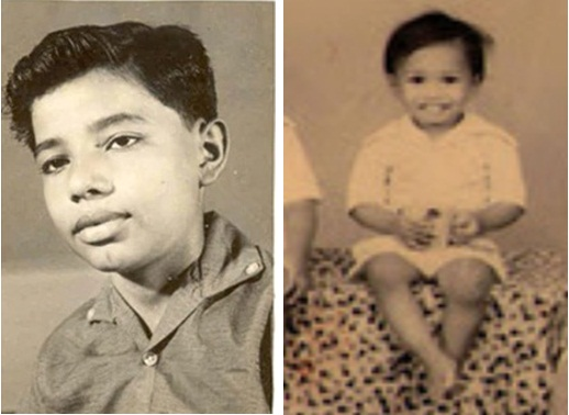 Comparison - Narendra Modi as boy and the toddler in photograph