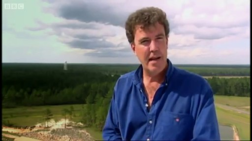Image of Jeremy Clarkson presenting BBC Channel's Top Gear programme