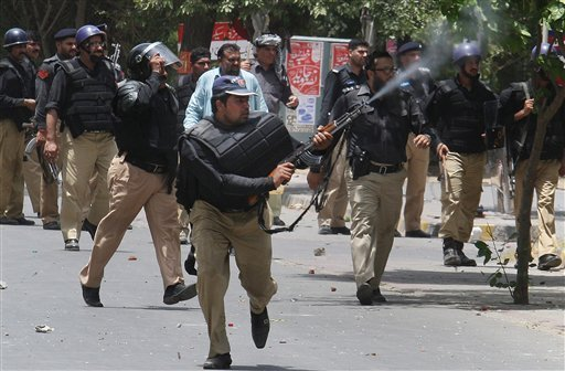 Image of Police gun fire in Pakistan's Model Town tragedy in Lahore