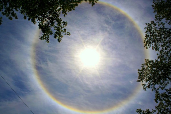 Image of Solar halo seen May 14, 2013, in Monmouth, New Jersey, as captured by Stacey Baker-Bruno