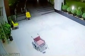 Image about Empty Wheelchair Ghost Moves on its Own in Chandigarh Hospital