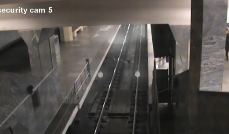 Ghost Train Caught on CCTV at China Railway Station: Fact Check