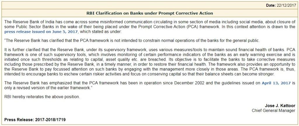Image of RBI clarification