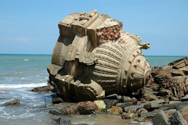 Image of Remains after Tsunami in Tamil Nadu back in Dec. 2004