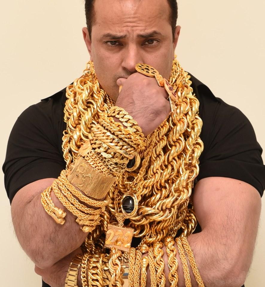 Image of Pakistani businessman Amjad Saeed, also called Gold Man and KaKa 222