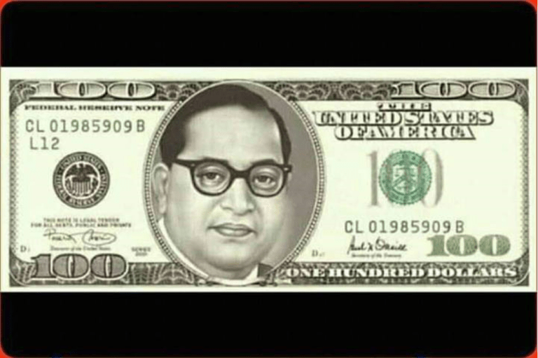 Image about American Govt. Issued Dollar Currency with Ambedkar Photo