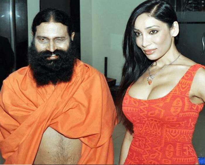 About Baba Ramdev with model Sofia Hayat