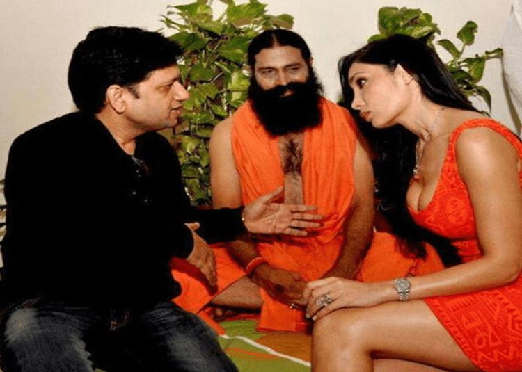 Image of Look-alike of Baba Ramdev in a comedy movie making