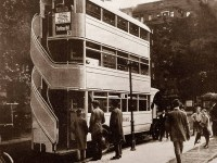 About Triple Decker City Bus in Berlin, Germany - Photograph