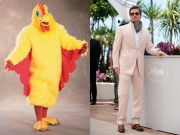 Image about Brad Pitt Chicken Suit Maskot for El Pollo Loco