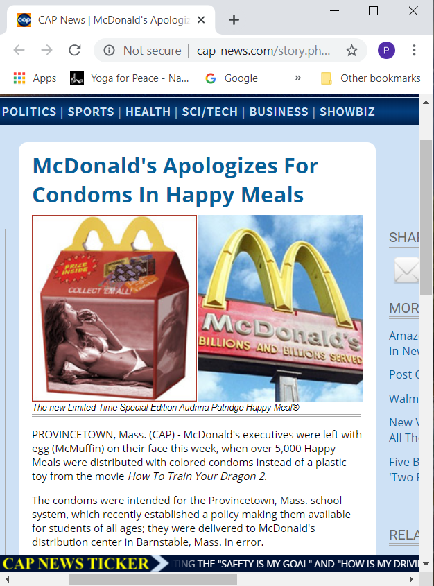 Image about McDonald's Distributed 5000 Happy Meals With a Condom