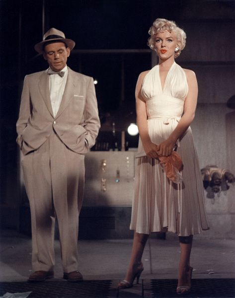 Image of Tom Ewell and Marilyn Monroe from the film