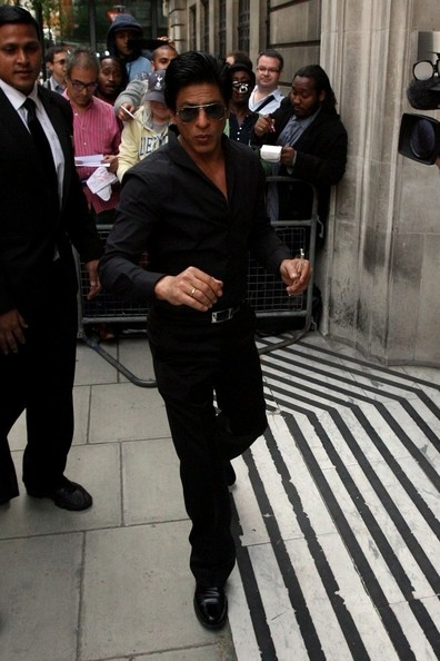 Photographs of Shah Rukh Khan arriving at BBC Radio 2 in London back in June 2012