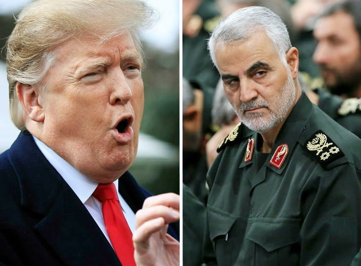 Image of US President Donald Trump ordered the killing of Irani Gen. Qasem Soleimani