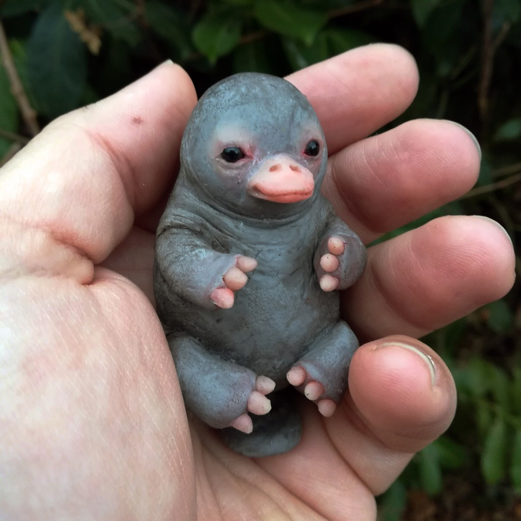 Image of Stone Platypus Baby Sculpture