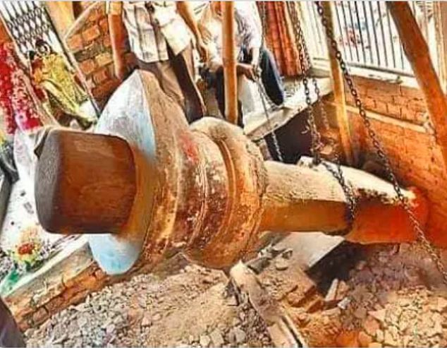 Image about Excavation in Ayodhya Found This Shivalinga