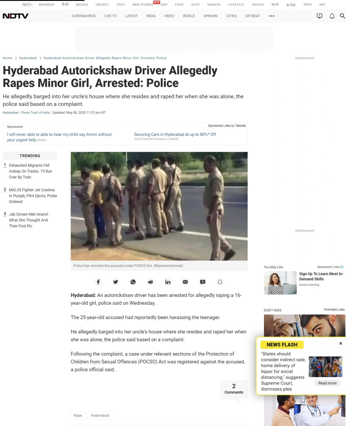 Image about Some Media Outlets Misreport Auto Driver Rapes Minor Girl