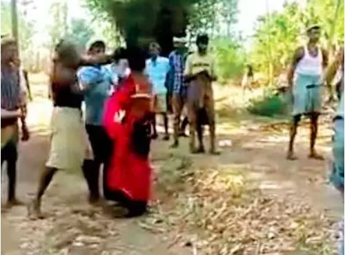 Image of Draconian punishment to minor tribal girl in a Gujarat village