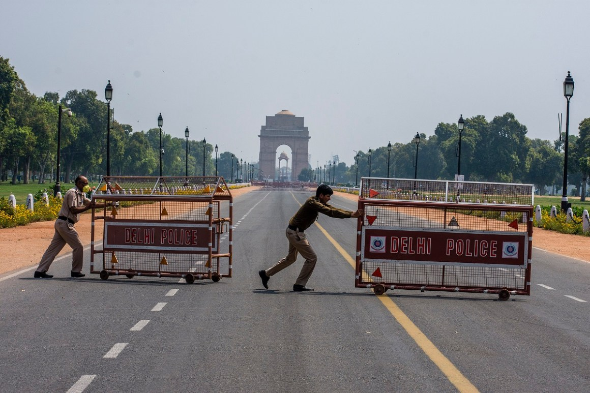 Image of India's nation-wide lockdown to contain COVID-19 virus