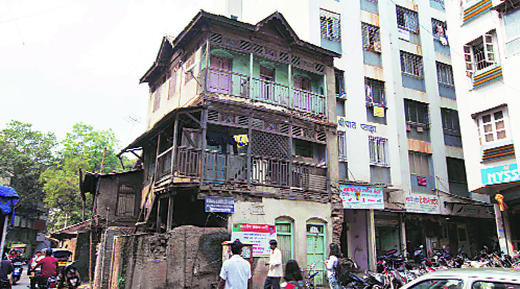 Image of a Building that houses a shrine to Nathuram Godse in Shivaji Nagar, Pune.