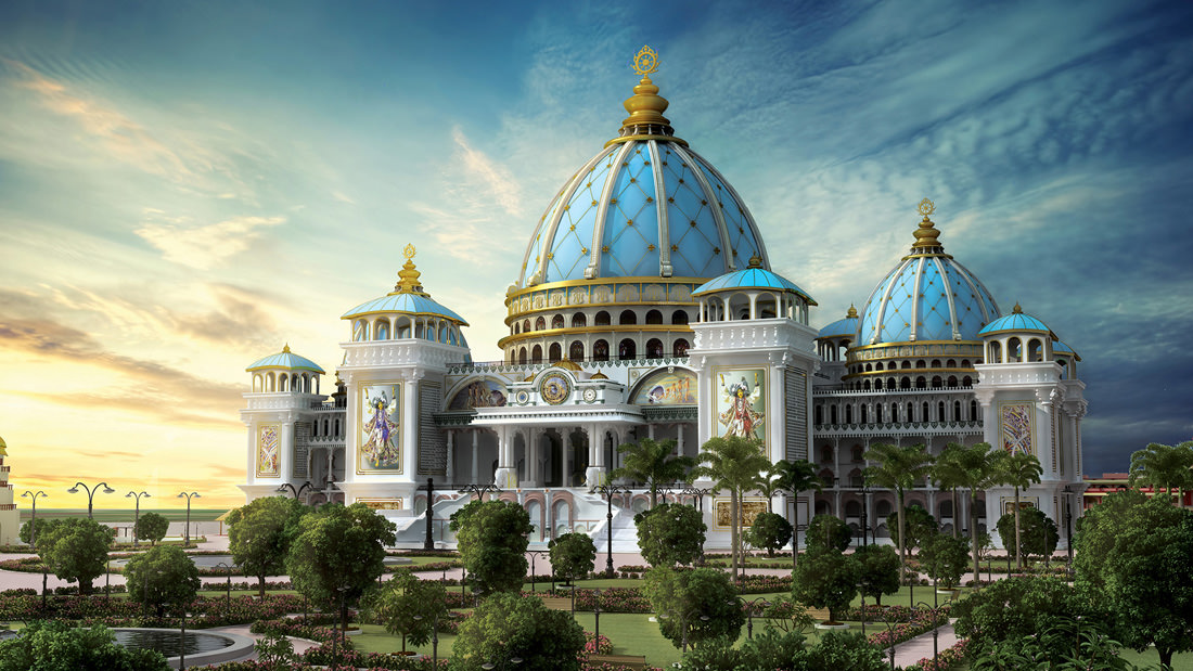 Image of Model of new Temple of Vedic Planetarium (ToVP) built by ISKCON in Mayapur
