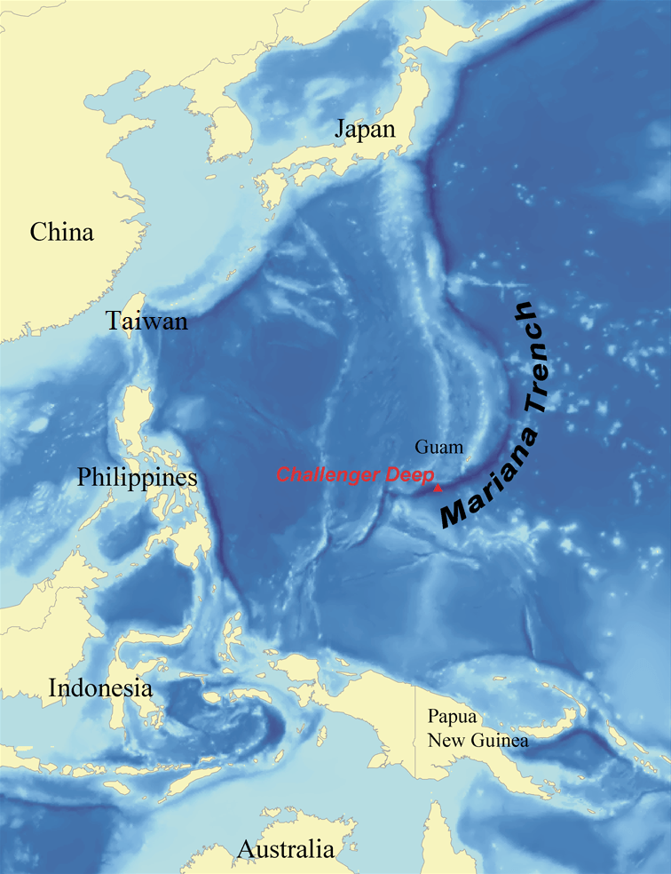 Image showing Mariana Trench