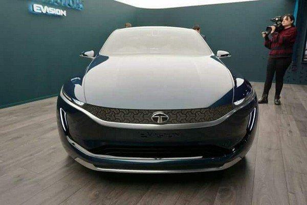 Image of Tata EVision Electric Sedan Concept Car
