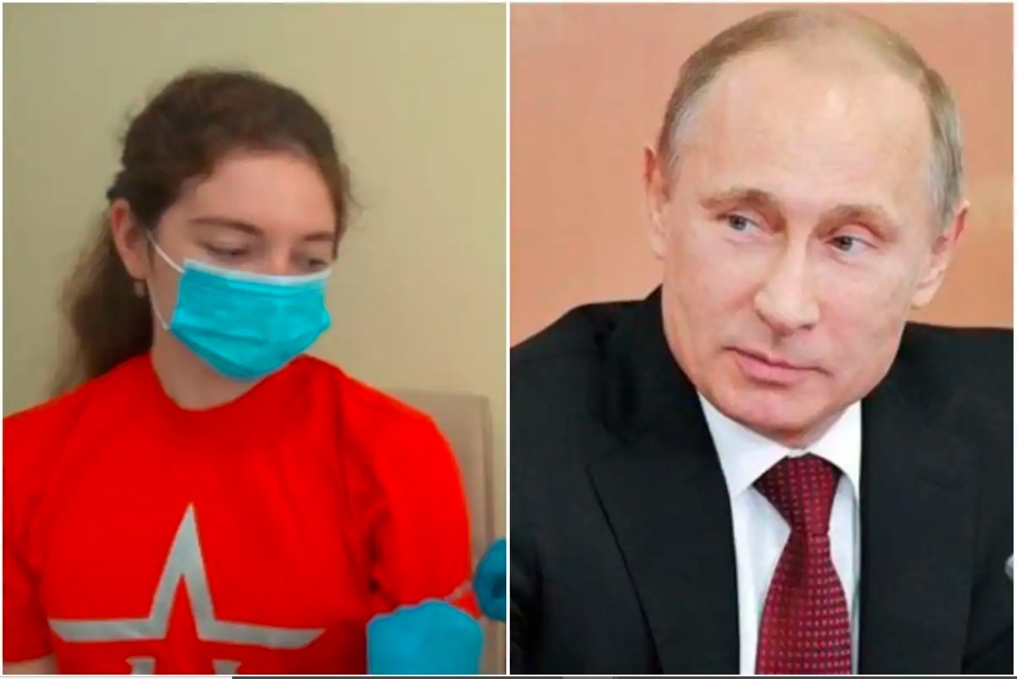 Image about Putin's daughter taking world's first COVID-19 vaccine from Russia?