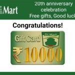 Image about DMart 20th Anniversary Celebration Free Gifts