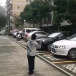 Image about Playing Badminton Alone With the Wind, Video