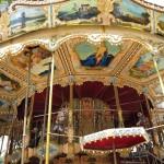 Fransk karusell i Avignon i to etasjer - med fransk utsmykking...