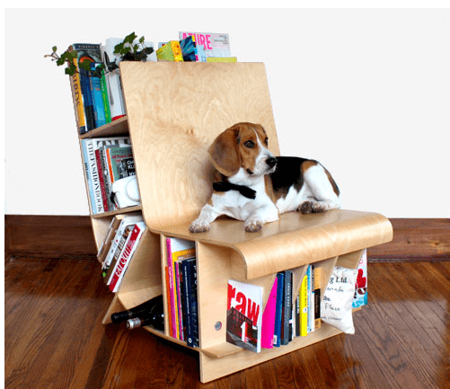 Bookseat bookcase seat combo