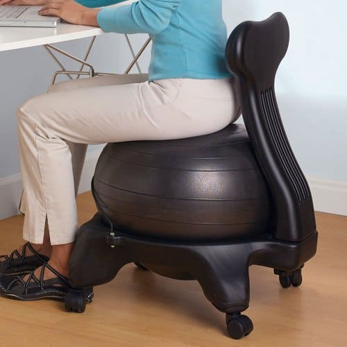 office chair alternative: an exercise ball