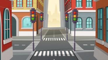 crossroads traffic lights