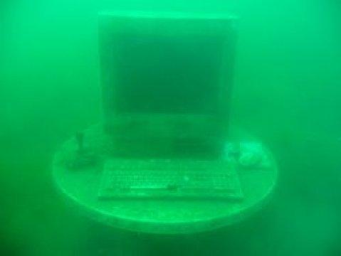Computer im Kreidesee Hemmor