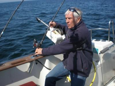 Lachsangeln vor Rügen (Kap Arkona) wird immer beliebter und viele Angler reisen im April bis Mitte Mai an.