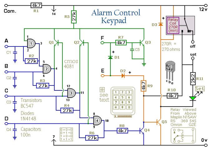 wiring diagram septic control relay  camera over cat5e