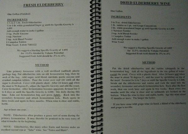 WINE MAKING RECIPE BOOK MARY'S RECIPES HOMEBREW WINEMAKING RECIPES