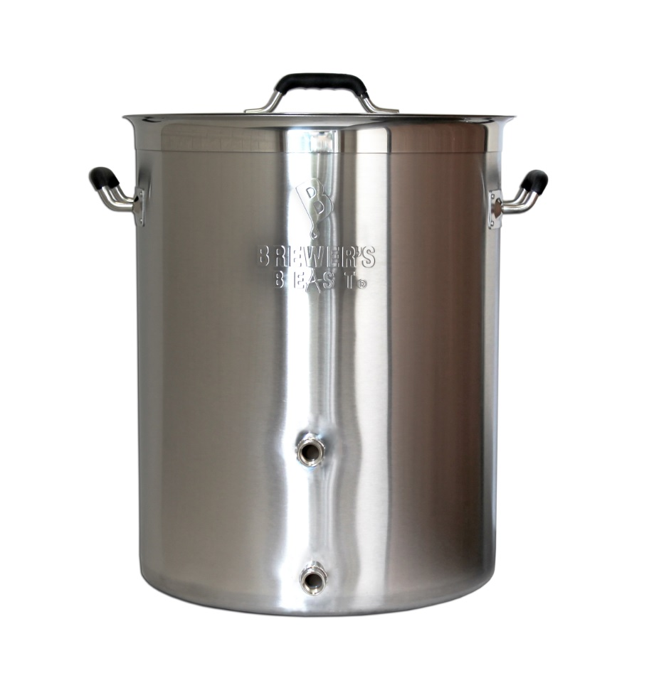 Brewer's Beast 8 gal Stainless Steel Home brewing Kettle - With Two Welded  Ports - OUR PICK BEST 8 GAL KETTLE - Hobby Homebrew