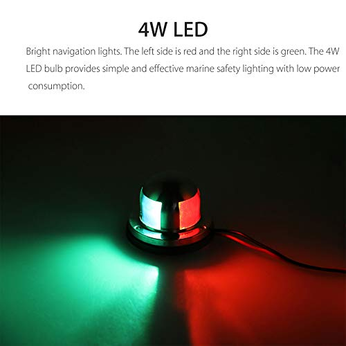 High Quality Boat Marine Yacht LED Bow Navigation Light Red /& Green Color