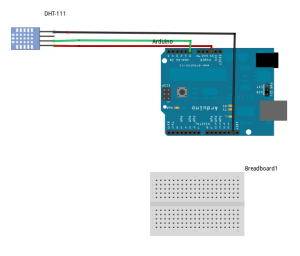 Wiring up DHT11 Temp & Humidity sensor to the Arduino