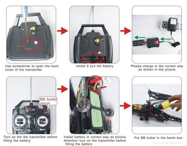 Elicottero Bipala : Modellismo e giocattoli elicottero rc che spara pallini