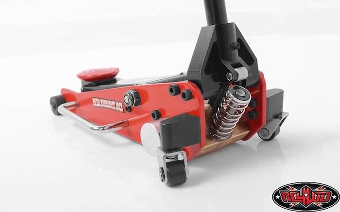 RC4WD Metal Hydraulic Jack- cric a carrello idraulico per scaler