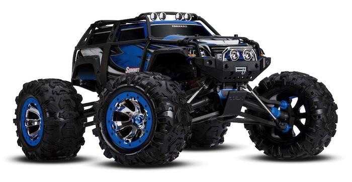 traxxas summit blue monster truck