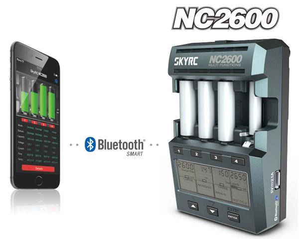Dettagli del caricabatterie/analizzatore NC2600 della SKYRC
