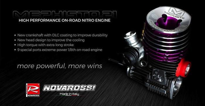 Novarossi Mephisto.21: motore per automodelli 1/8 Onroad
