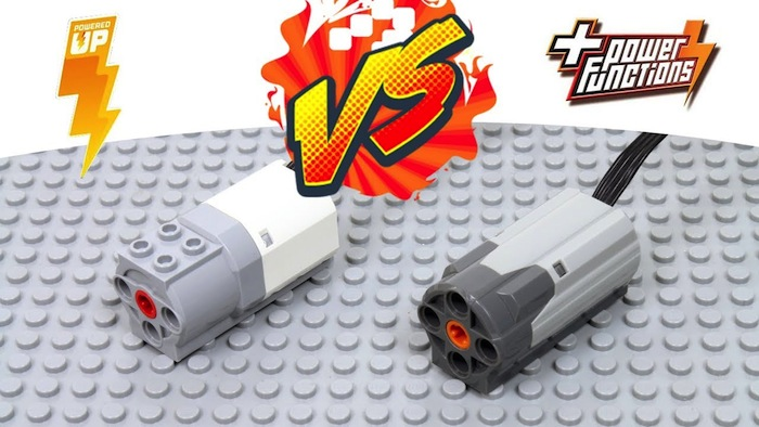 Confronto motori LEGO Powered Up e LEGO Power Functions