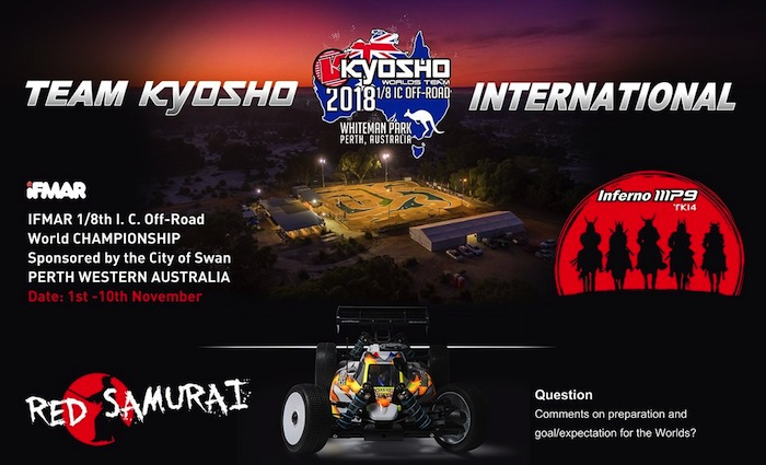 TEAM KYOSHO: 1/8 off-road World Championship 2018